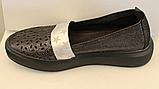 Мокасины черные женские кожаные от производителя модель ЛИ126-3, фото 2