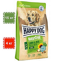 Сухой корм для собак Happy Dog Natur Croq (Хеппи Дог Натур Крок) ягненок + рис | 15 кг