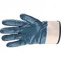 Перчатки рабочие маслобензостойкие МБС с нитриловым покрытием манжет крага