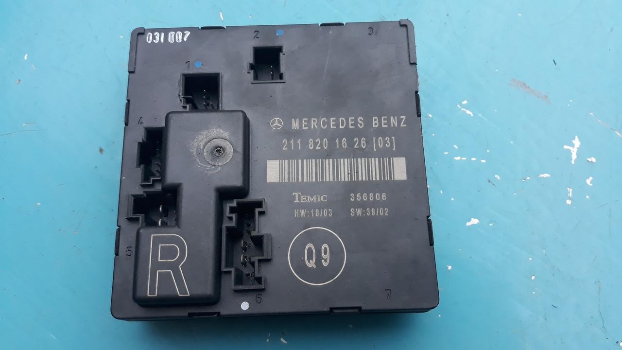 Блок управления электрикой задней правой двери мерседес 211 Mercedes w211 a2118201626 2118201626
