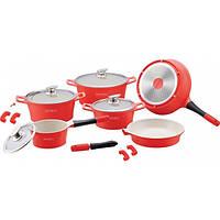 Набір посуду Royalty Line RL-ES1014C Red