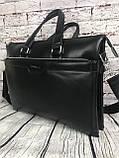Мужская сумка-портфель Polo под формат А4. Сумка для документов. КС61, фото 3