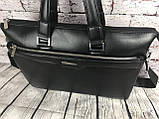 Мужская сумка-портфель Polo под формат А4. Сумка для документов. КС61, фото 7