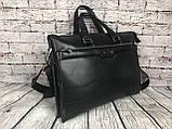 Мужская сумка-портфель Polo под формат А4. Сумка для документов. КС61, фото 8