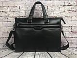 Мужская сумка-портфель Polo под формат А4. Сумка для документов. КС61, фото 9