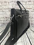 Мужская сумка-портфель Polo под формат А4. Сумка для документов. КС61, фото 10