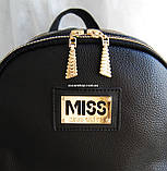 Кожаный Мини рюкзак Moschino. Хит сезона! Выбор. Кожаная Женская сумка. РД002, фото 2
