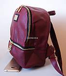Кожаный Мини рюкзак Moschino. Хит сезона! Выбор. Кожаная Женская сумка. РД002, фото 5