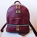 Кожаный Мини рюкзак Moschino. Хит сезона! Выбор. Кожаная Женская сумка. РД002, фото 8