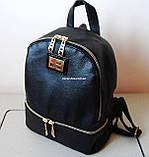 Кожаный Мини рюкзак Moschino. Хит сезона! Выбор. Кожаная Женская сумка. РД002, фото 9