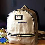 Кожаный Мини рюкзак Moschino. Хит сезона! Выбор. Кожаная Женская сумка. РД002, фото 10