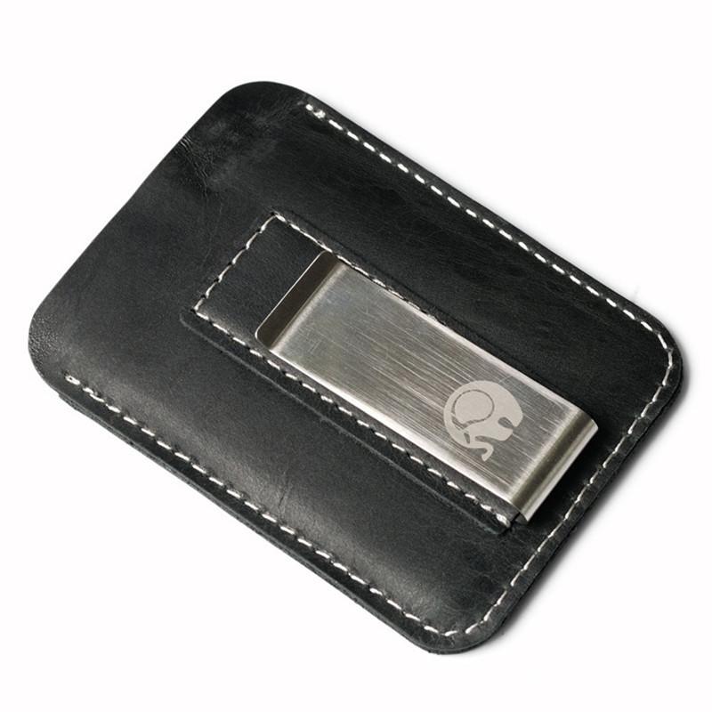 Мужской кожаный зажим для денег. Натуральная кожа ЕК59