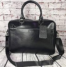 Мужская сумка-портфель для документов под формат А4. Деловой портфель.  КС65