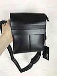 Небольшая мужская сумка - планшет Polo с ручкой. Небольшая сумка. Размер 22*17 см КС34, фото 3