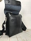 Небольшая мужская сумка - планшет Polo с ручкой. Небольшая сумка. Размер 22*17 см КС34, фото 4