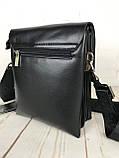 Небольшая мужская сумка - планшет Polo с ручкой. Небольшая сумка. Размер 22*17 см КС34, фото 5
