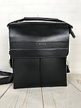 Небольшая мужская сумка - планшет Polo с ручкой. Небольшая сумка. Размер 22*17 см КС34, фото 6