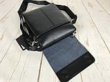 Небольшая мужская сумка - планшет Polo с ручкой. Небольшая сумка. Размер 22*17 см КС34, фото 8
