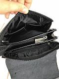 Небольшая мужская сумка - планшет Polo с ручкой. Небольшая сумка. Размер 22*17 см КС34, фото 10