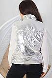 Женская жилетка без капюшона с карманами плащевка синтепоне 150 размер:48-56, фото 2