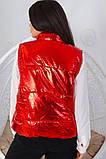 Женская жилетка без капюшона с карманами плащевка синтепоне 150 размер:48-56, фото 3