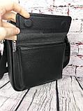 Мужская сумка - планшет.  Барсетка мужская через плечо.  КС33, фото 7