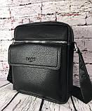Мужская сумка - планшет.  Барсетка мужская через плечо.  КС33, фото 9