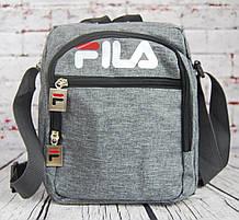 Спортивная сумка-барсетка через плечо Fila .Тканевая сумка. КС136-1