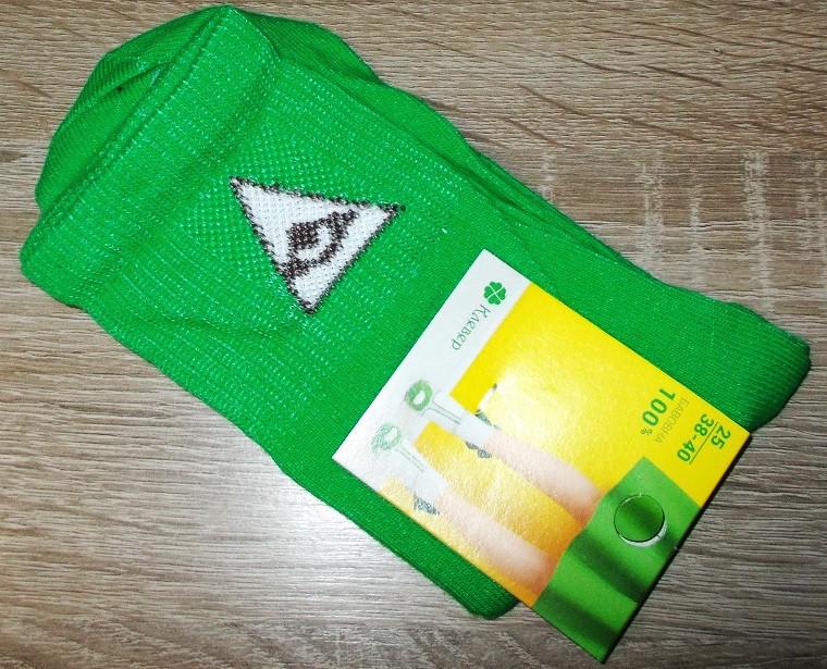 Носки теннисные с приколами размер 38-40 зеленые