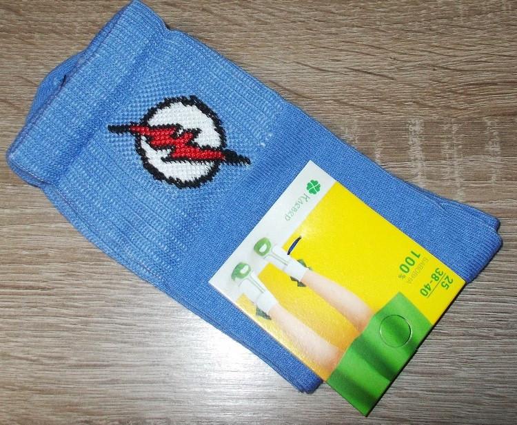 Носки теннисные с приколами размер 38-40 голубые