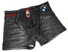 Трусы боксеры джинс 3110 котон размер  XL(48-50) черные