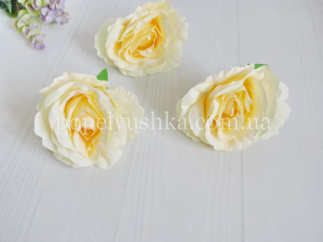 "Головка троянди ""Вендела"" 11 см кремова"