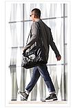 Мужская дорожная сумка. Сумка для поездок. Черная КСД6, фото 2