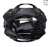 Мужская дорожная сумка. Сумка для поездок. Черная КСД6, фото 3