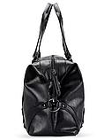 Мужская дорожная сумка. Сумка для поездок. Черная КСД6, фото 4