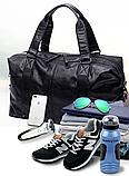 Мужская дорожная сумка. Сумка для поездок. Черная КСД6, фото 5