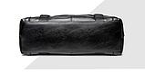 Мужская дорожная сумка. Сумка для поездок. Черная КСД6, фото 6