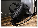 Мужская дорожная сумка. Сумка для поездок. Черная КСД6, фото 7