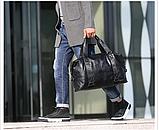 Мужская дорожная сумка. Сумка для поездок. Черная КСД6, фото 8