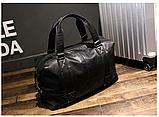 Мужская дорожная сумка. Сумка для поездок. Черная КСД6, фото 9