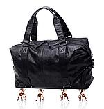 Мужская дорожная сумка. Сумка для поездок. Черная КСД6, фото 10