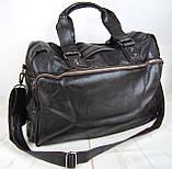 Мужская дорожная сумка. Сумка для поездок. Коричневая КСД7, фото 2