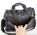 Мужская дорожная сумка. Сумка для поездок. Коричневая КСД7, фото 5