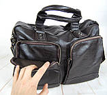 Мужская дорожная сумка. Сумка для поездок. Коричневая КСД7, фото 6