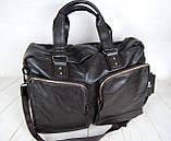 Мужская дорожная сумка. Сумка для поездок. Коричневая КСД7, фото 8