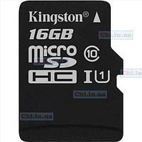 Карта памяти Kingston microSDHC 16GB Canvas Select Class 10 UHS-I U1 (SDCS/16GBSP)
