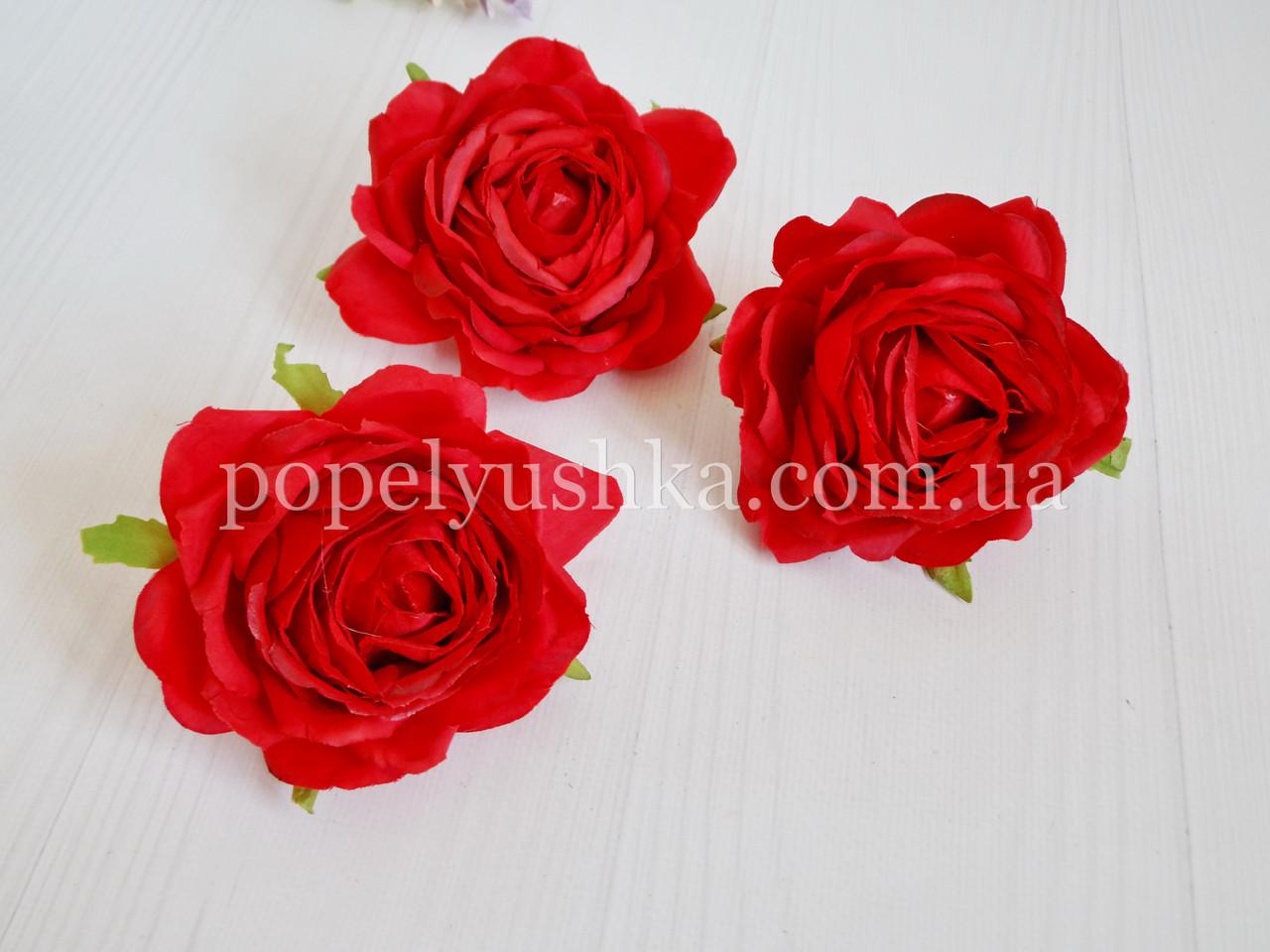 """Головка троянди """"Преміум"""" 9 см червона"""