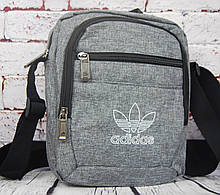 Спортивная сумка-барсетка через плечо Adidas .Тканевая сумка. КС135