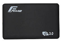 "Зовнішній кишеню Frime SATA HDD/SSD 2.5"", USB 3.0, Soft touch, Black (FHE30.25U30)"