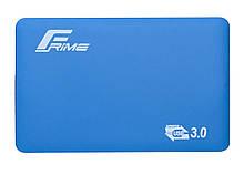 "Зовнішній кишеню Frime SATA HDD/SSD 2.5"", USB 3.0, Soft touch, Blue (FHE31.25U30)"